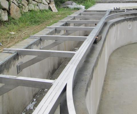 Struttura per piscina in acciaio inox