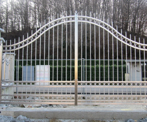 Cancello carraio in acciaio inox